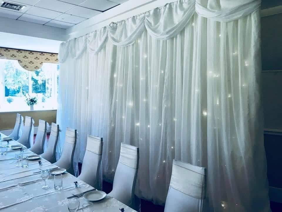 Lighting & Sparkling Backdrop