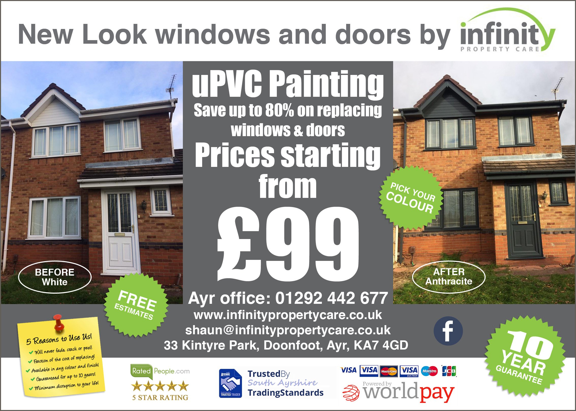 UPVC Spraying - Composite / UPVC / Aluminium
