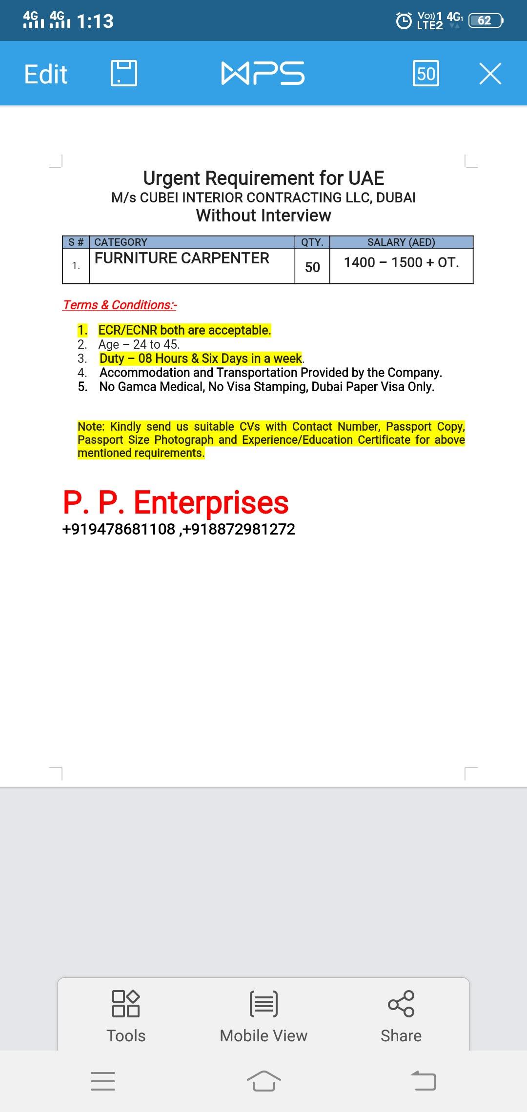 P  P  Enterprises | Delhi Employment Agency
