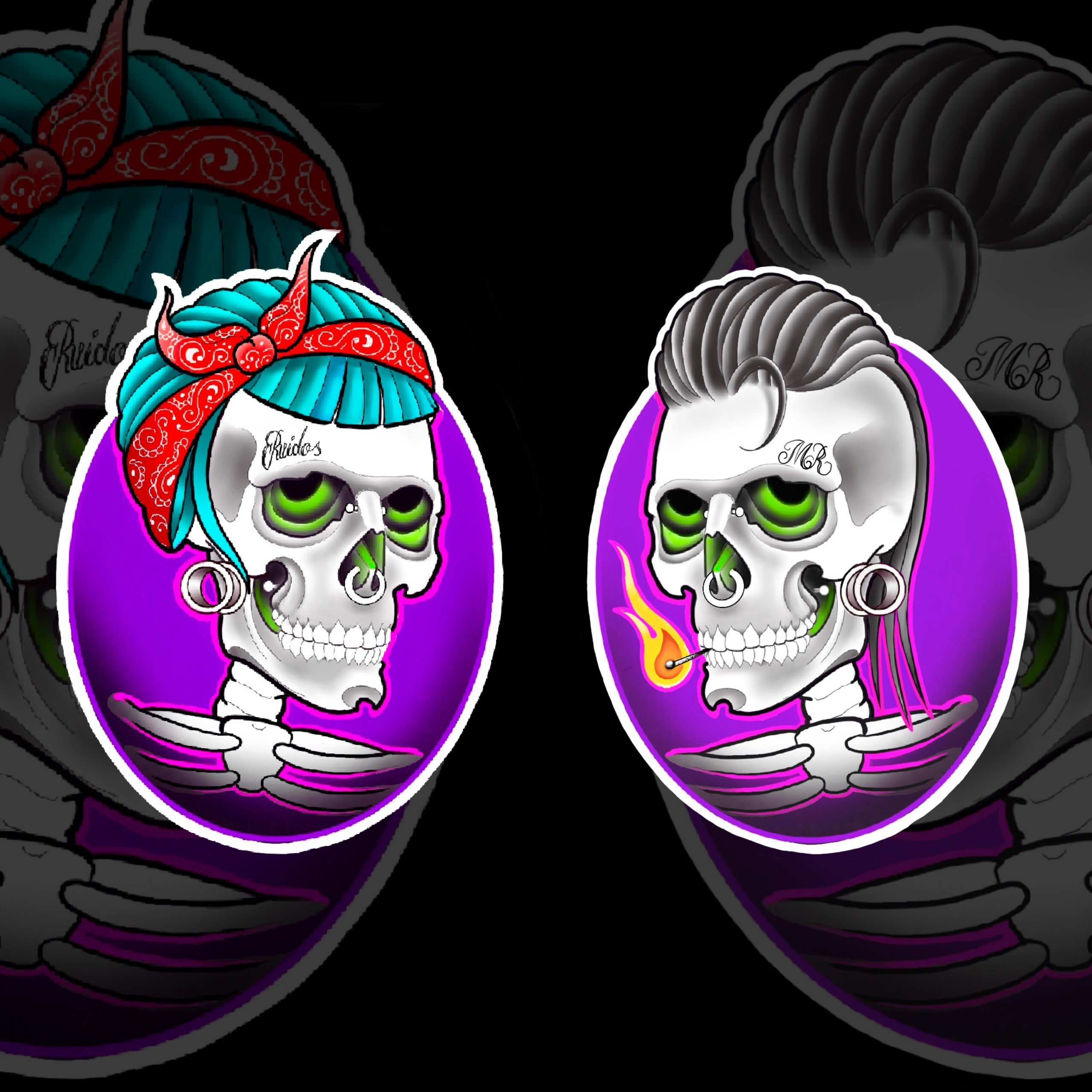 Skull Family Ink