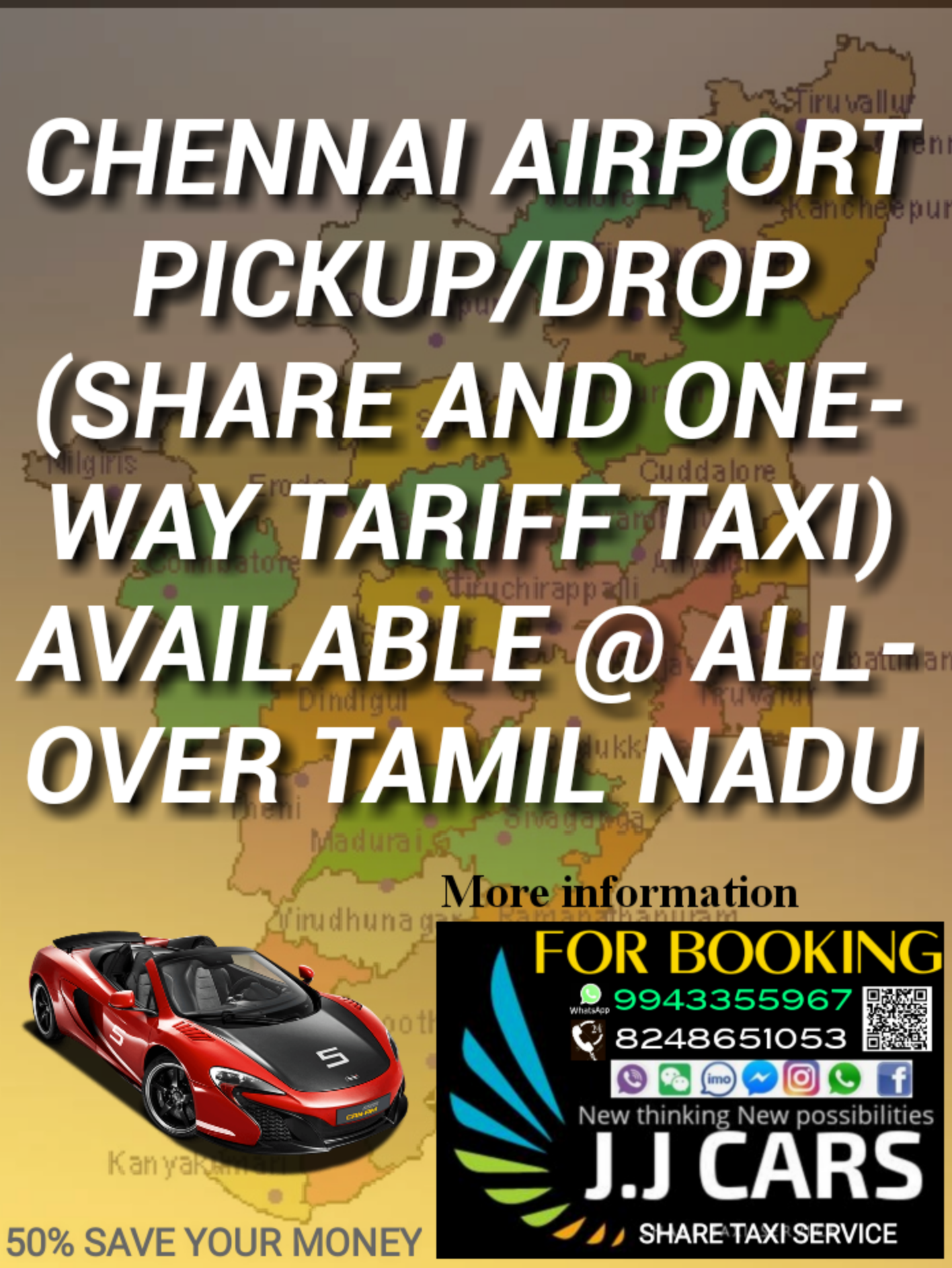 J J Cars Share Taxi Service Travel Agency
