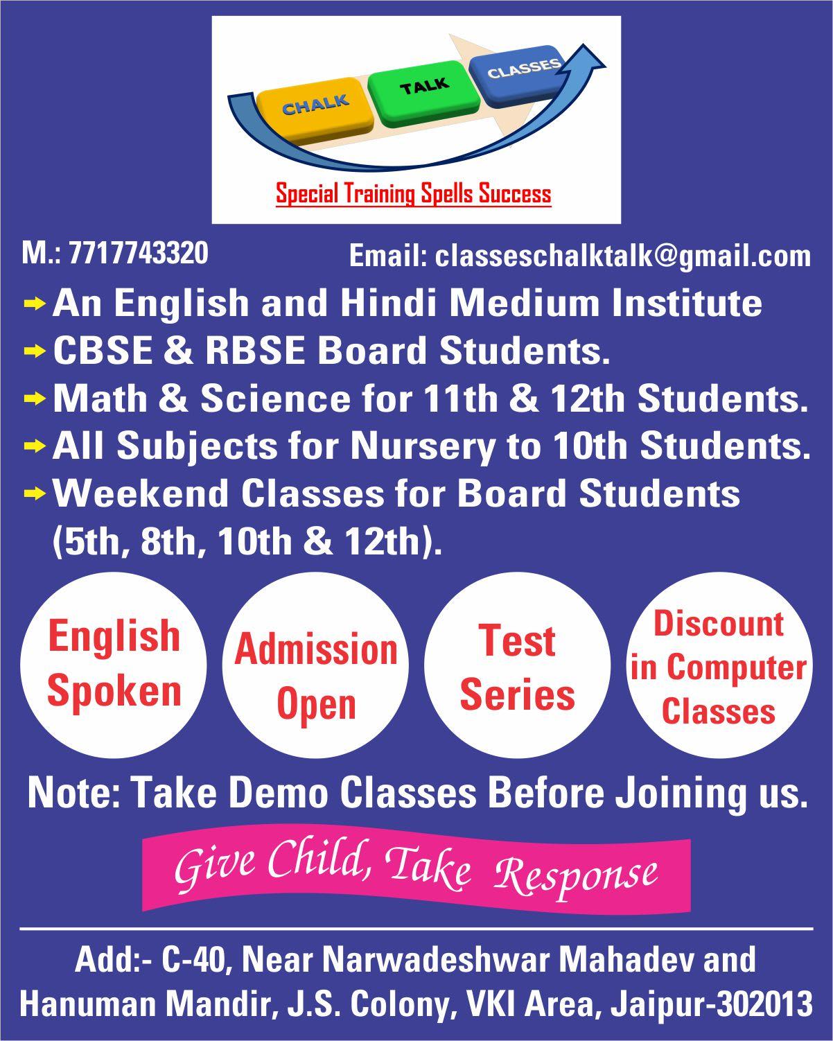 Chalk-Talk Classes | Training Course Provider