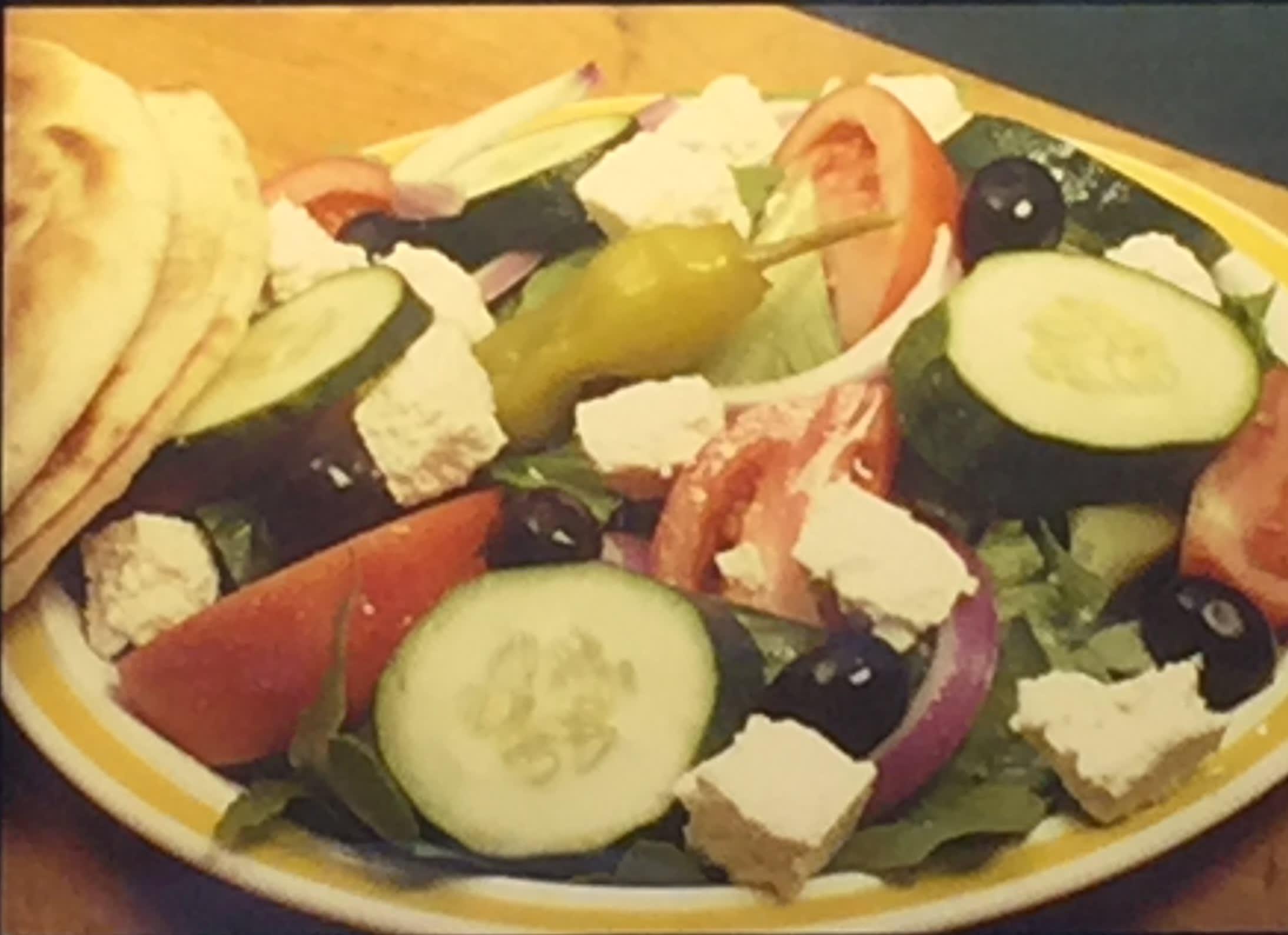 #23 Greek Pita salad
