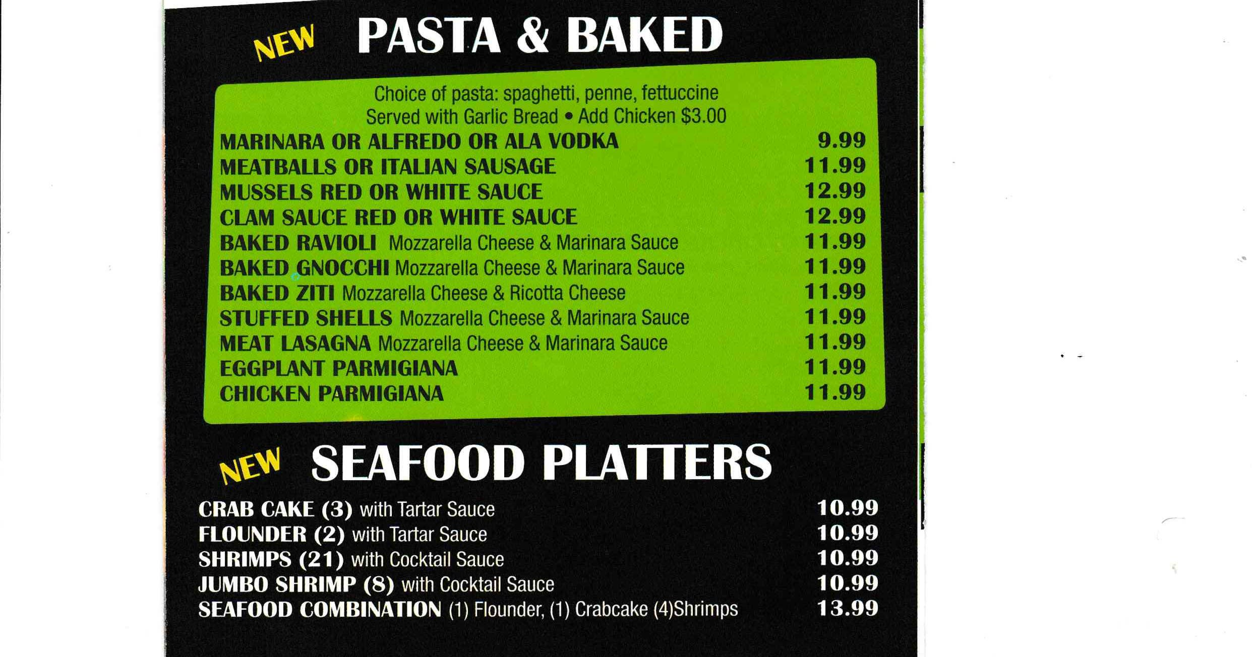 SeaFood - Pasta & Baked Platters ~