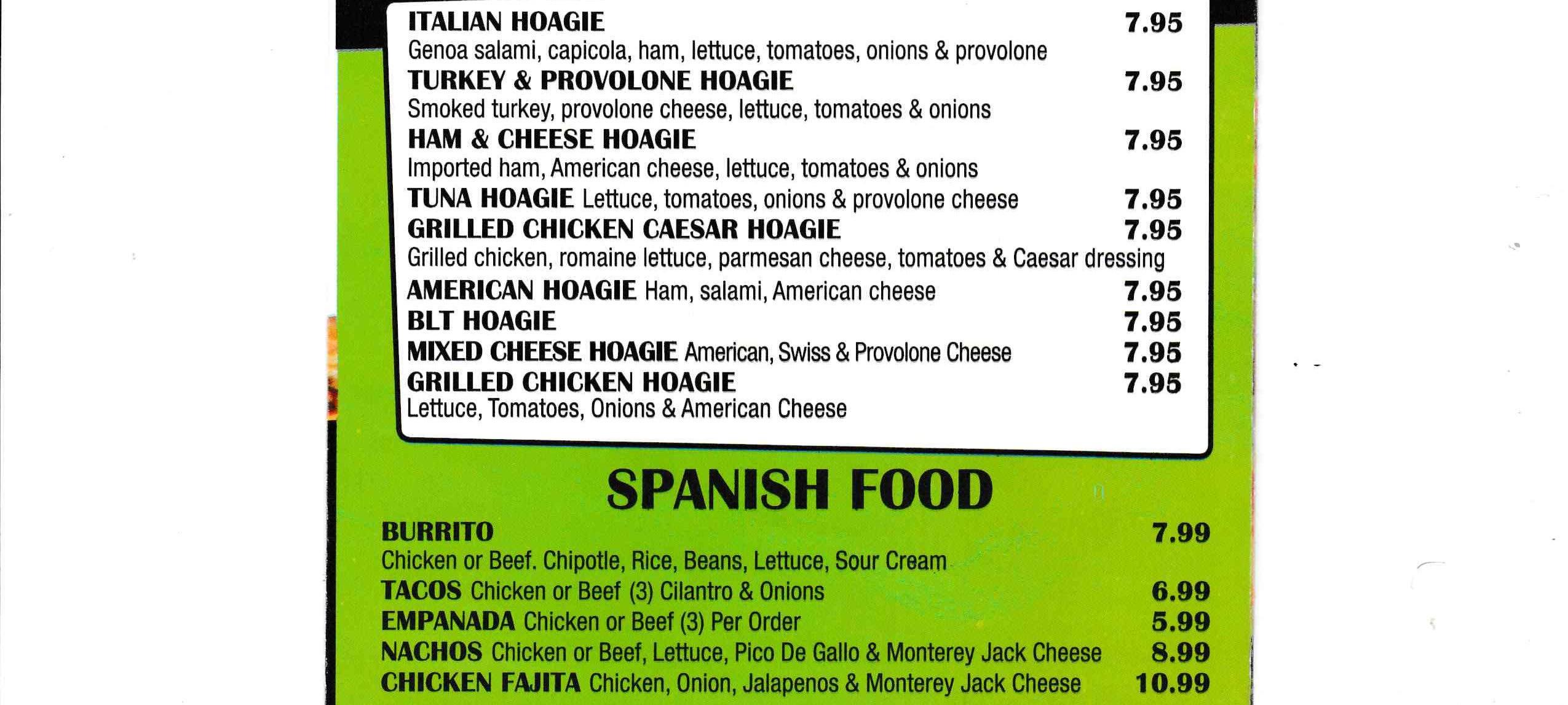 Hoagies - Spanish Food ~