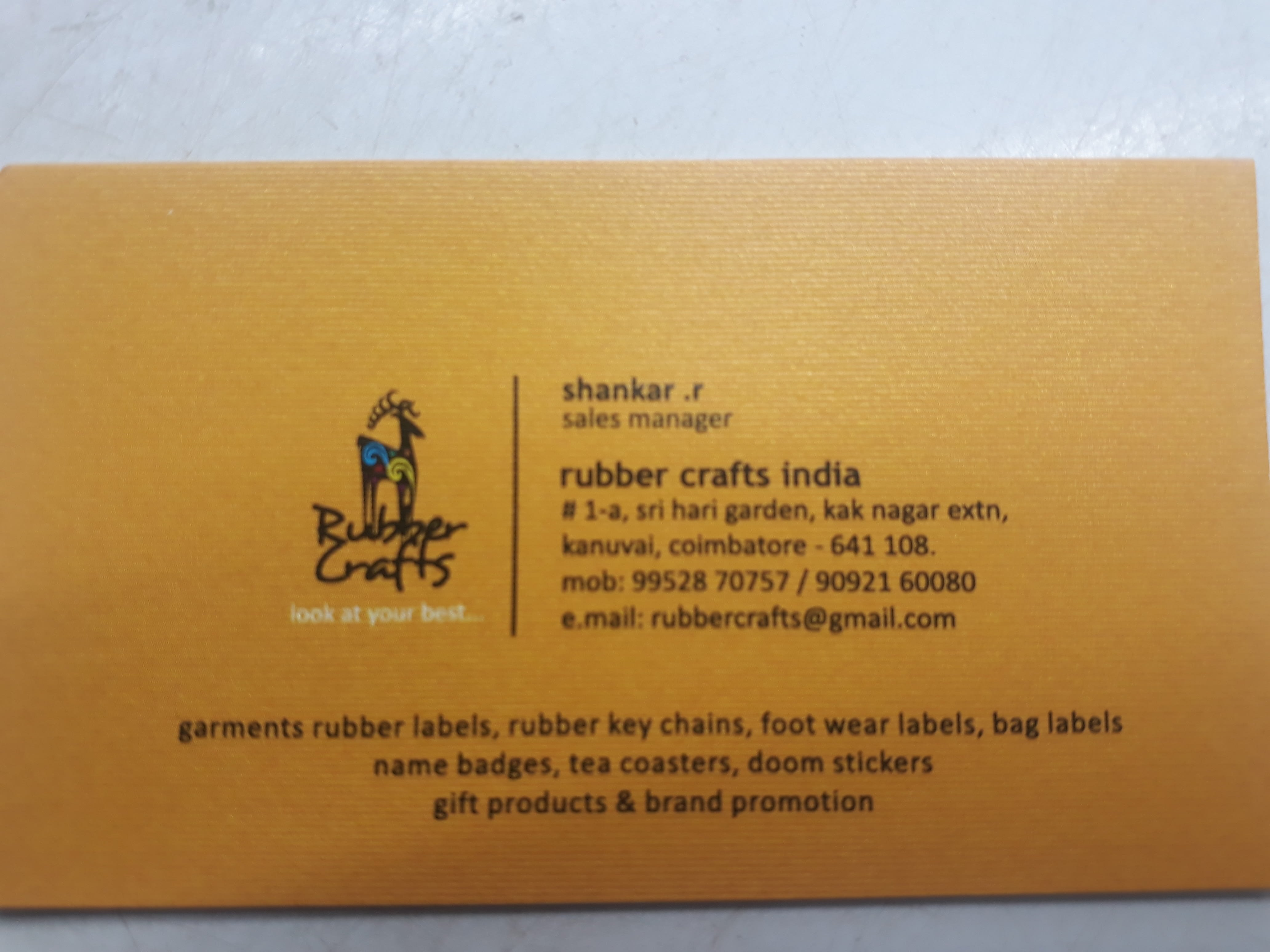 Rubber crafts india