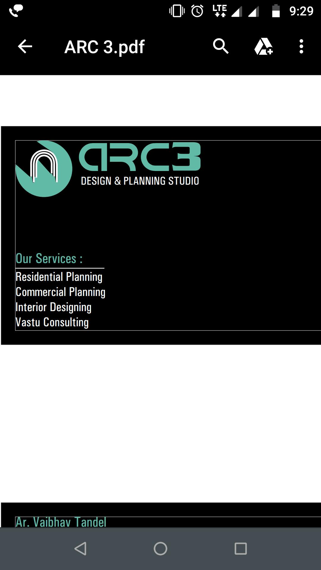 ARC3 Design And Planning Studio