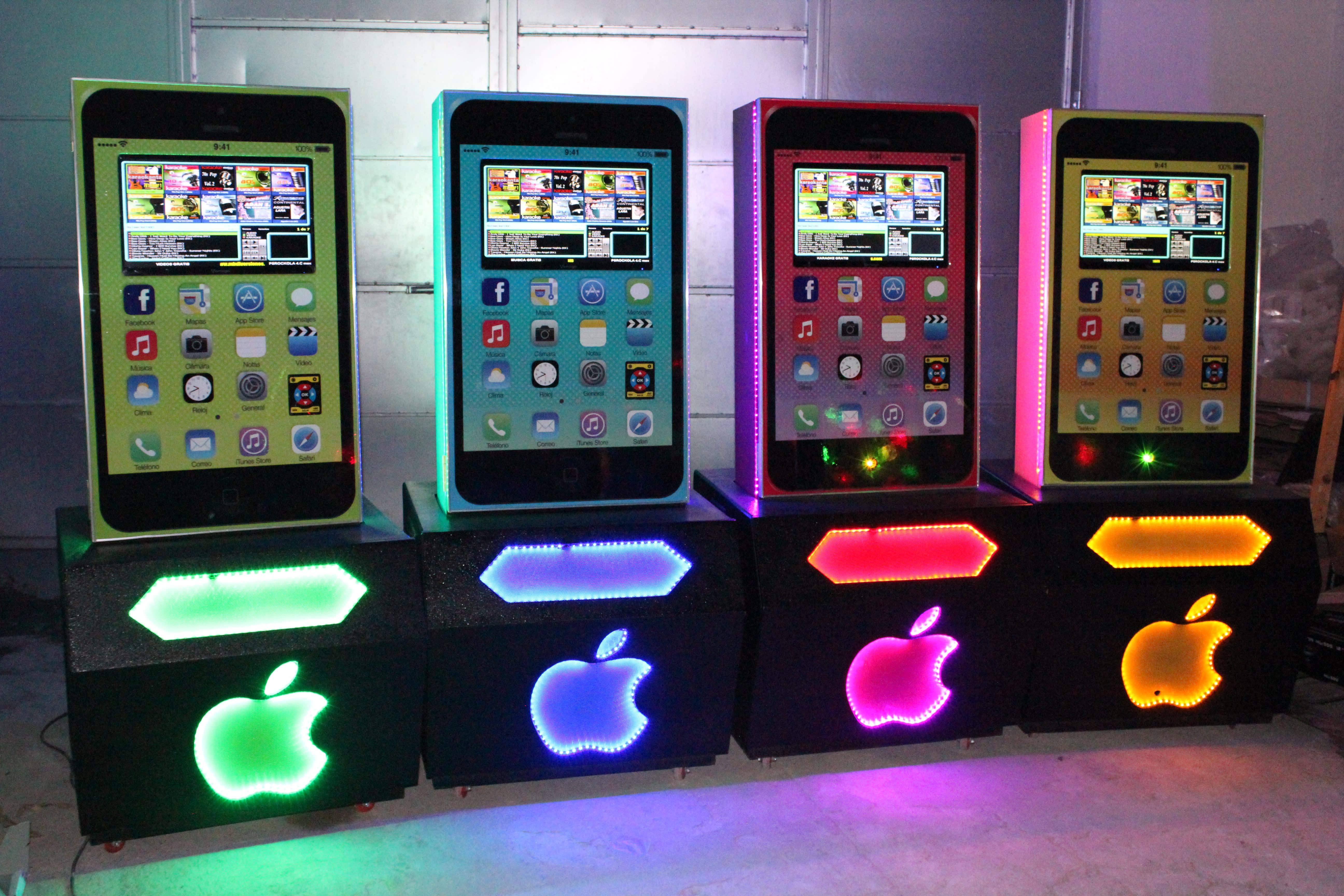 Renta de Rockolas mod Iphone colores
