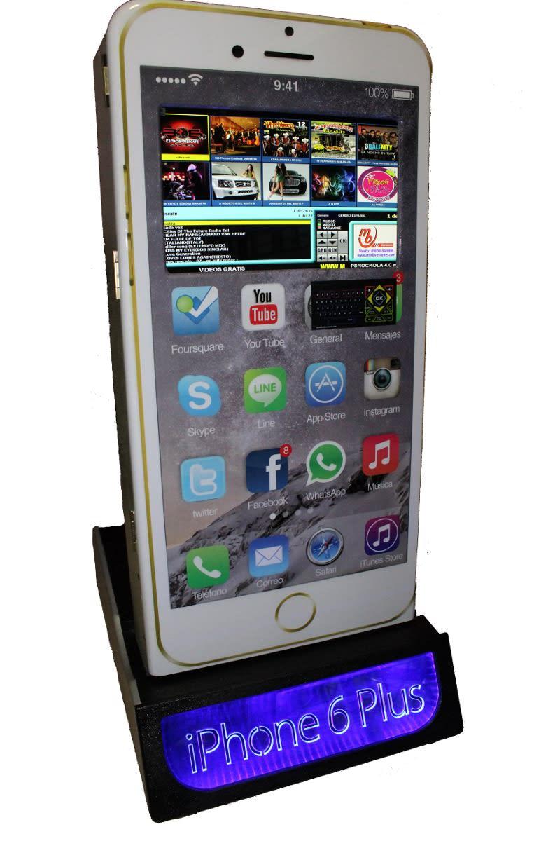 Renta Rockola - Karaoke mod Iphone Plus touchscreen