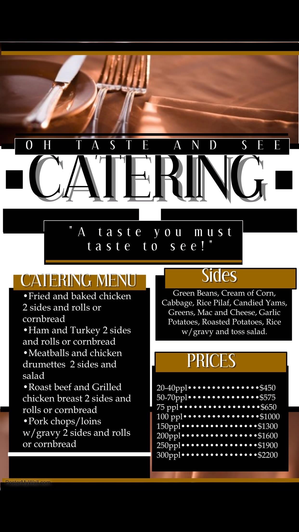 Oh Taste See Catering
