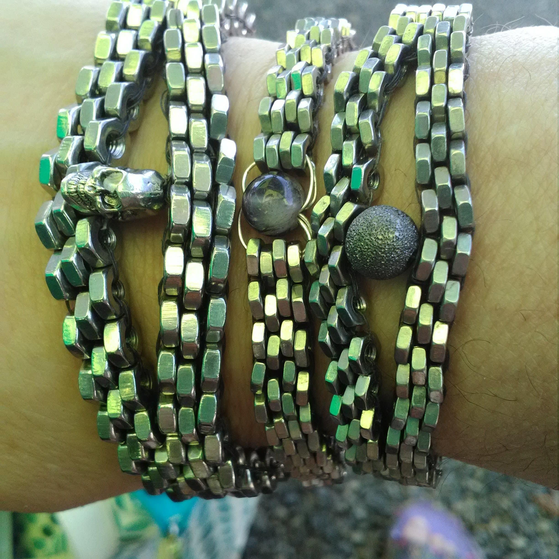 Hex nut skull Bracelet