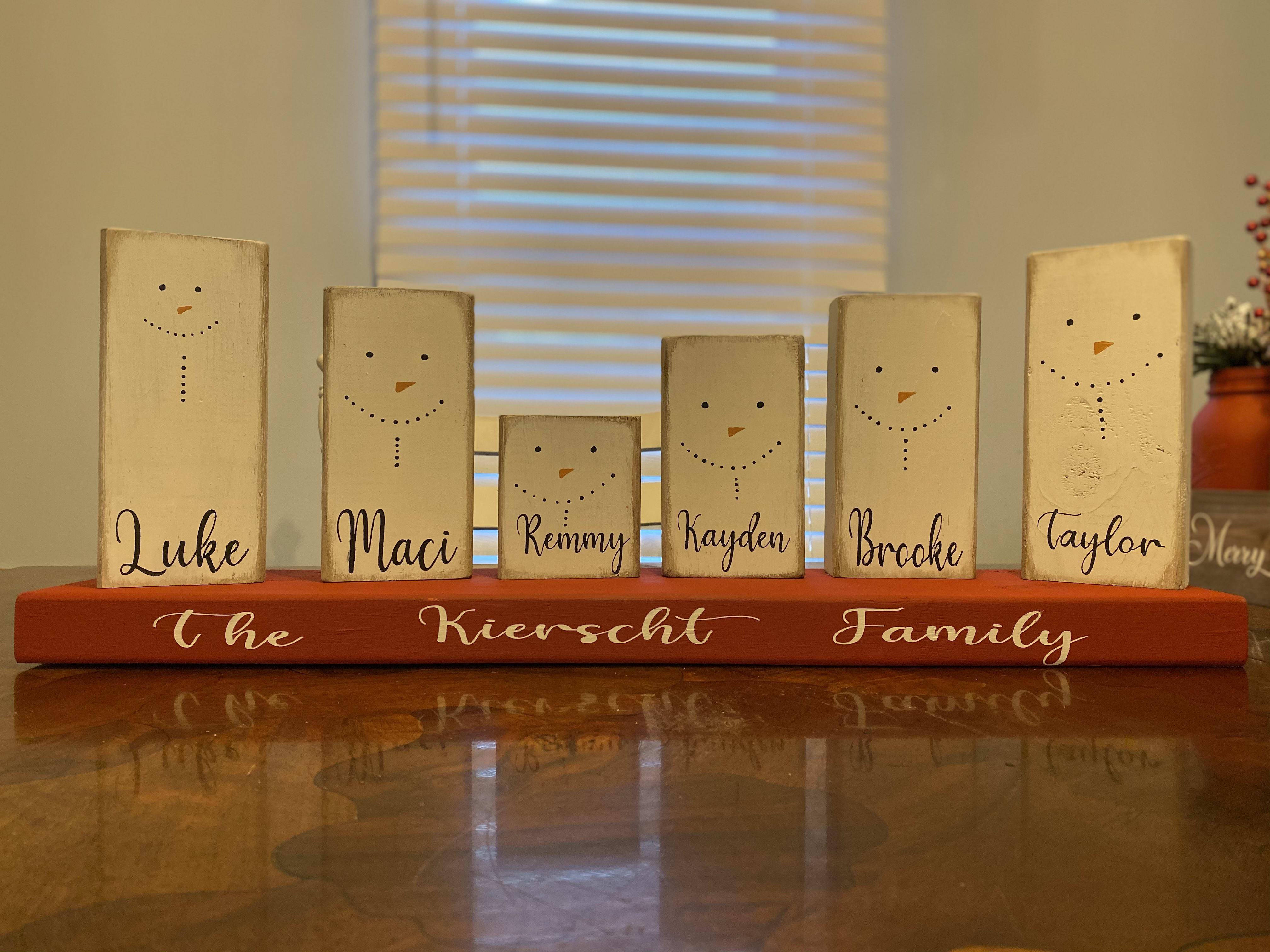 Snowman Family Christmas Decor