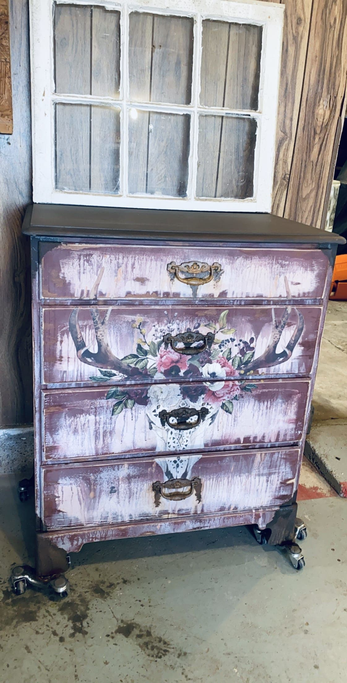 Boho Rustic 4 drawer Dresser