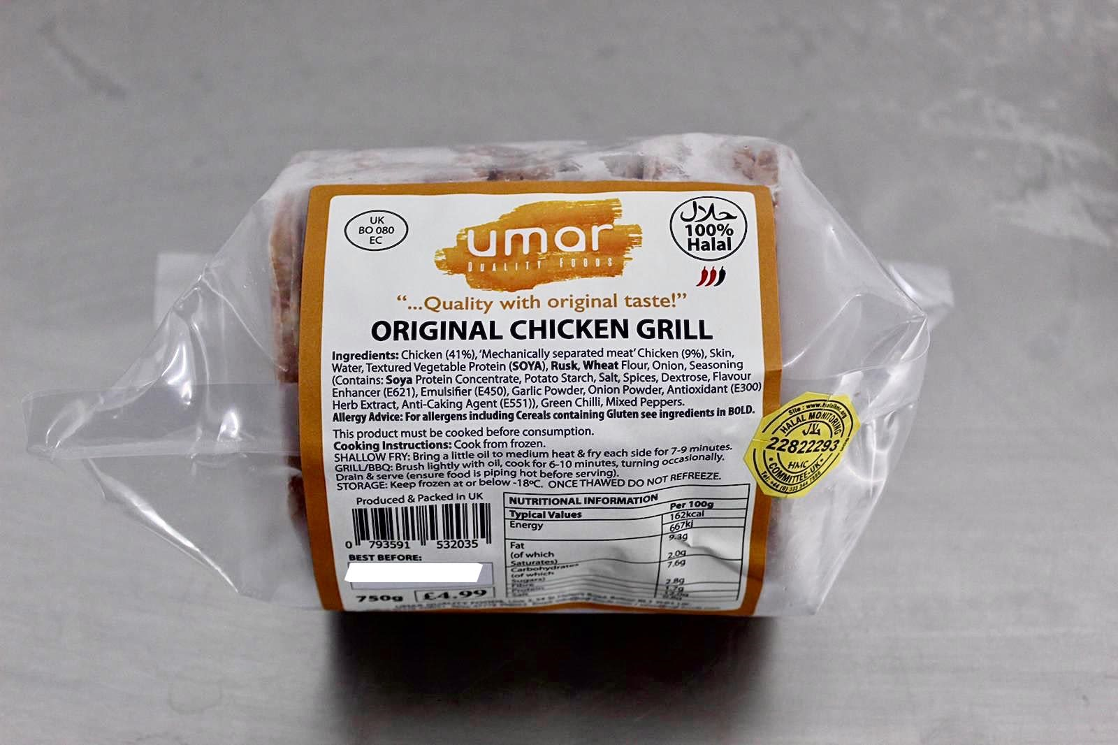 Original Range of Chicken Products