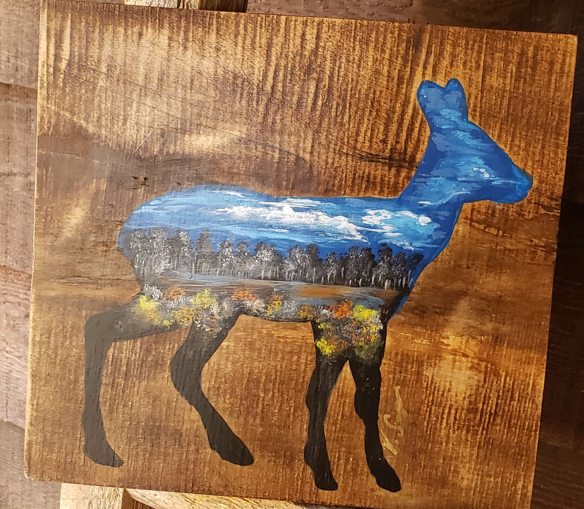 Artwork on Canvas and Wood