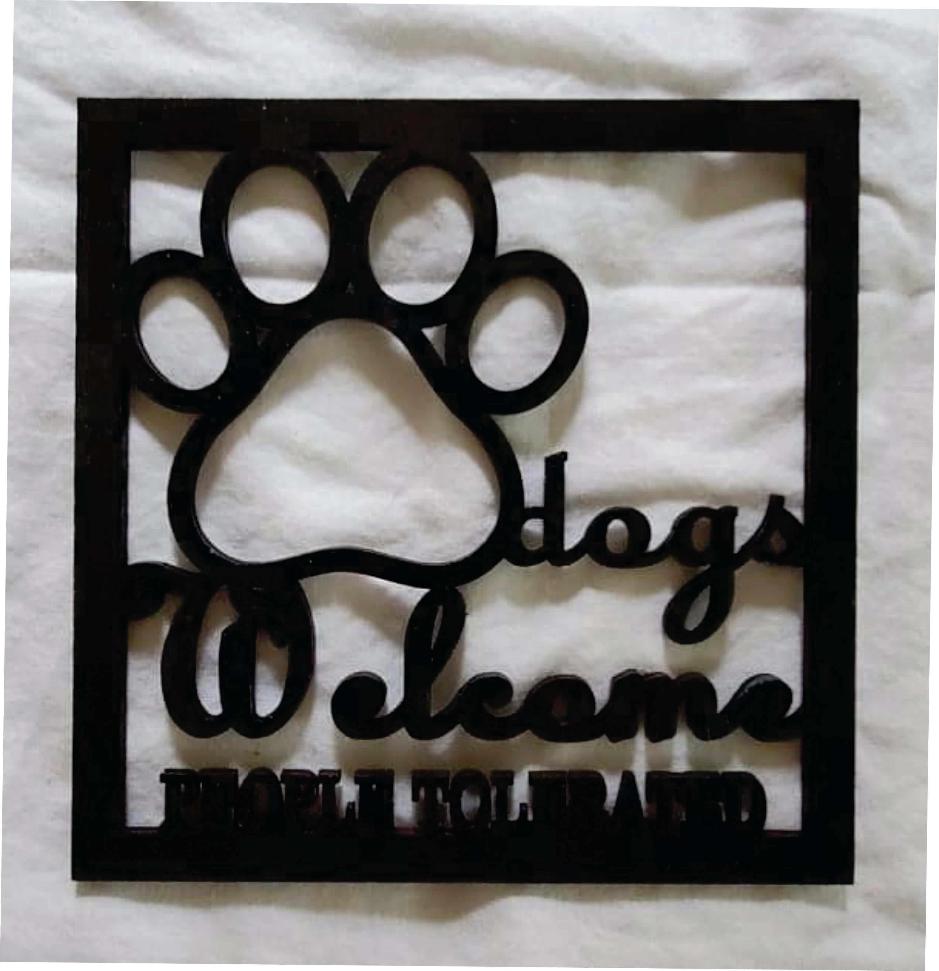 Dogs Welcome Black