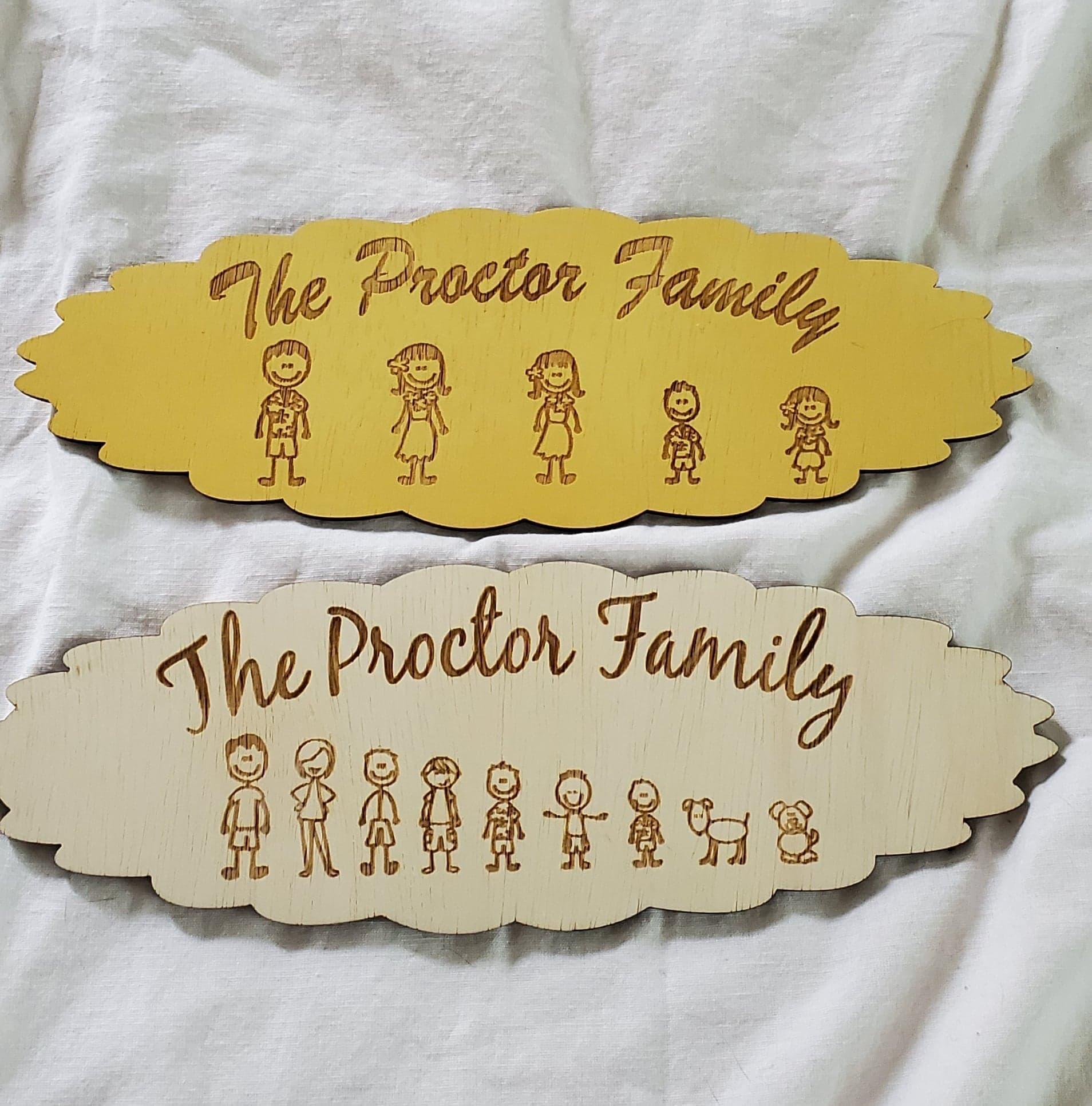 Stick Figure Large Family